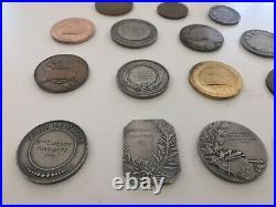 15 Médailles de M. Dorbritz artiste Art déco et photos des uvres de l'artiste