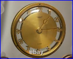 AA LANCEL PARIS 1950 pendule horloge clock 8jours réveil mécanisme swiss rare