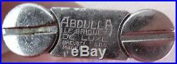 ABDULLA splendide briquet à essence/semi auto/art déco/1930/briquet tempête