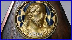 ANCIEN OBJET DE DÉVOTION CHRIST ART DÉCO signé F. DROUSSY à identifier