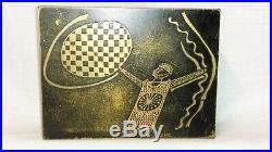 ANCIENNE BOITE A TABAC ART DÉCO signée J. P. C dans le gout de Lambert-Rucki