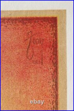 Affiche Ancienne 1920 Vin Sautel Grenache Mazan Vaucluse Sommelier Art Deco