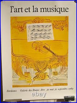 Affiche Ancienne Art Et Musique Dufy Mourlot Deco