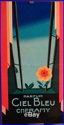 Affiche Ancienne Parfum Art Deco Cheramy Superbe