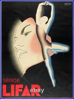 Affiche Art Déco Originale Paul Colin Serge Lifar Danse Ballet 1935