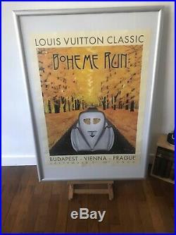 Affiche BUGATTI Louis VUITTON Classic BOHÈME RUN Budapest, Razzia, Art Deco