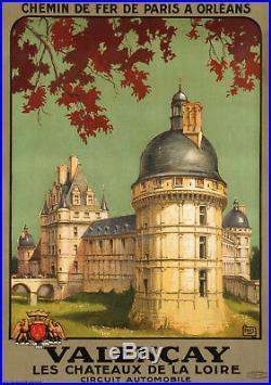 Affiche Originale Art Déco ALO Valencay Château de la Loire 1926