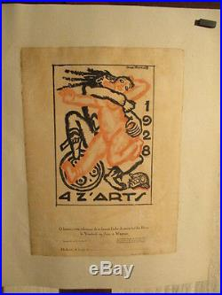 Affiche Quatz'arts Graphisme Deco Signee Strakoff 1928