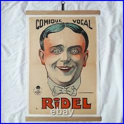 Affiche ancienne HARFORD HARFORT 1920 ART DECO vintage Clown Circus poster