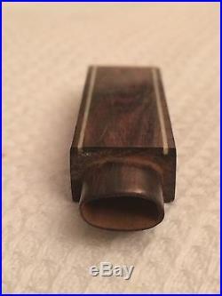 Aiguille Etui Couture Art Deco Needle Case 1930 Ébène Macassar Wood