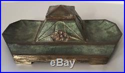 Albert Marionnet, rare encrier en bronze Art Deco