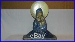 Alfons Noseda statue religieuse art déco maria avec enfant Faïence Flamande BE