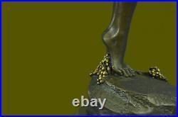 Américain Art Nouveau Bronze Sculpture Vigne Par Harriet Frishmuth Doré Déco Art