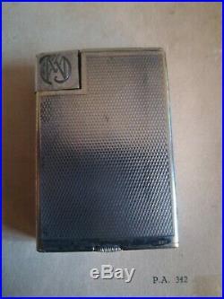 Ancien Briquet signé Alfred Dunhill Paris 1930 art déco savorys Fab suisse