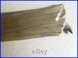 Ancien Coupe Papier Bronze Ch Maillard Forme Ange Objet Bureau Collection