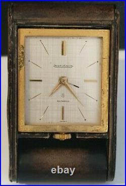 Ancien Et Rare Réveil De Voyage Pendulette Jaeger Lecoultre Pour Dunhill