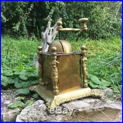 Ancien Moulin à café en bronze, vintage art déco