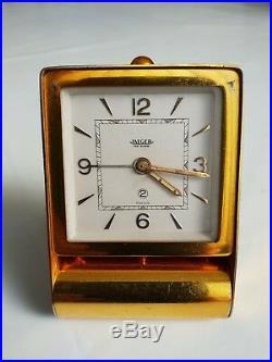 Ancien Réveil De Voyage Vintage Ann50 Jaeger- Lecoultre 2 Jours Swiss