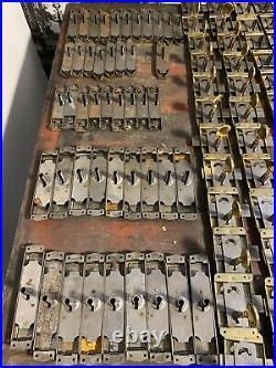 Ancien Stock Lot 245 Serrure Clefs Clés Keys Lock ART DECO porte armoire, meuble