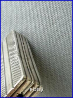 Ancien briquet art deco Cartier Argent massif antique lighter silver