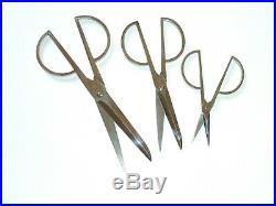 Ancien coffret ciseaux ELOI PERNET ART DECO old set scissors couteau knife