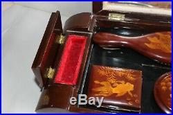 Ancien nécessaire de toilette, de voyage, vietnamien, en bois laqué