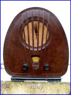 Ancien poste radio Tsf Philips 834A Bakélite Art Deco old radio post