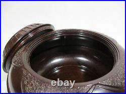Ancienne Boite Ronde Pot A Tabac Tabatiere En Bakelite Art Deco Bakelit Box
