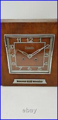 Ancienne Pendule Art Deco A Monnayeur Marque Zenith
