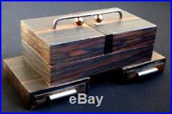 Ancienne boite à cigarette Art déco palissandre Old tobacco box Normandie 1930