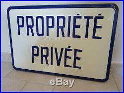 Ancienne plaque emaillée PROPRIETE PRIVEE old enamel art populaire déco loft