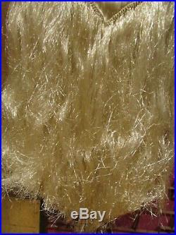 Ancienne robe de soiree en soie et paille de soie epoque 1920 art deco