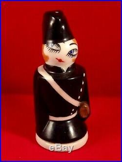Ancienne salière porcelaine Gendarmette Camille THARAUD LIMOGES 1920 ART DECO