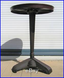 Ancienne table bistrot fonte & bakélite estampillée LV Art Déco 1930