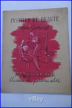 Aquarelle Burlet Viennay Projet Publicitaire Art-deco Rene Garraud -1925