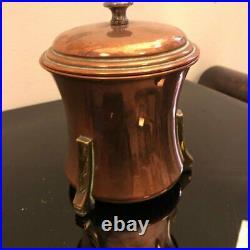 Art Déco British Copper And Laiton Tea Caddy, Environ 1930