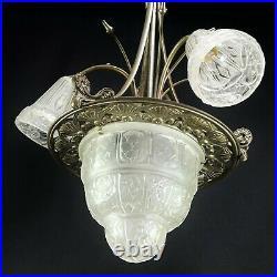 Art Déco Lustre Lampe à Suspension Chandelier Lampe Plafond Type Nouveau