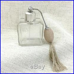 Art Déco Parfum Bouteille Atomiseur Christofle Plaque Argent Baccarat Cristal