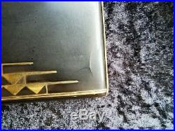 Art déco Étui à cigarettes en argent laqué et or