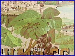 Art deco affiche vins fins de CHAMPAGNE C. GERARS Epernay Imp. Oberthur 52x66cm