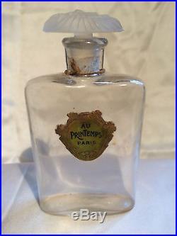 Au Printemps Flacon De Parfum Art Deco 1920 Vintage Glass Perfume Bottle