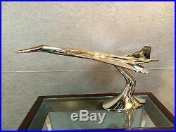 Avion Concorde en alu Trophée d'agence de voyage de 71 cm