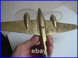 Avion bimoteur en bronze époque art déco circa 1940, 19 cm x 26 cm