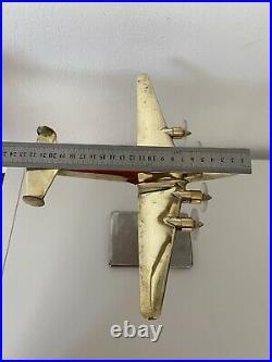 Avion de bureau SNCASE SE. 161 Languedoc bronze doré art déco circa 1940
