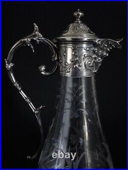 BACCARAT Collection Gallia pour Christofle Paire d'Aiguières Cristal taillé XIXe