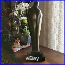 BRONZE ART DECO MATERNITE VIERGE A L'ENFANT M. CAULLET- NANTARD 5,8 /6kgs 44cms
