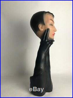 BUSTE DE FEMME PUBLICITAIRE christian Dior en plâtre style Art Deco