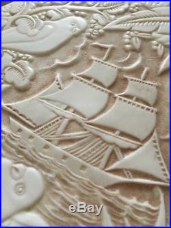 Boite Poudre Tropiques Edouard Fornells Bakélite Art Déco 1925