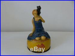 Boite Poudrier Art Déco Terre De Retz Année 1920 Femme Au Chat
