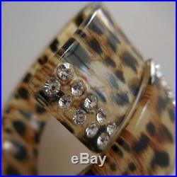 Bracelet léopard diamant femme art déco collection bijou vintage design XX N5321